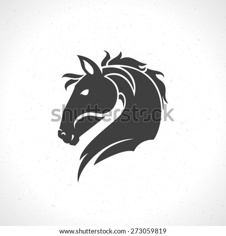 horse face logo emblem template