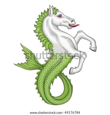 horse fish vector