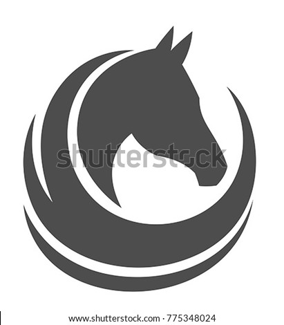 Horse head on a white background