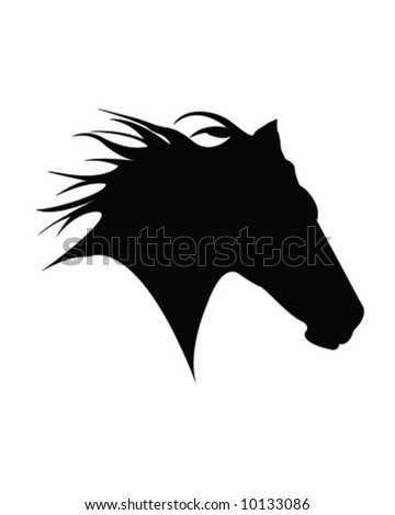 Horse Head Outline clip art - vector clip art online