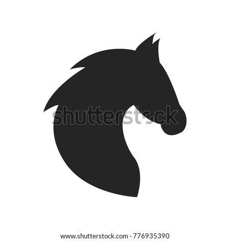 Horse icon vector. Animal symbol. Stallion pictogram, flat vector sign isolated on white background. Simple vector illustration for graphic and web design.