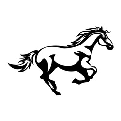 Horse Icon, Vector, Silhouette