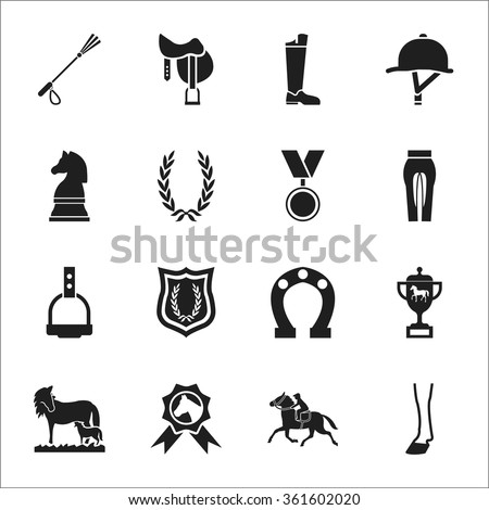 Horse Icons Set.