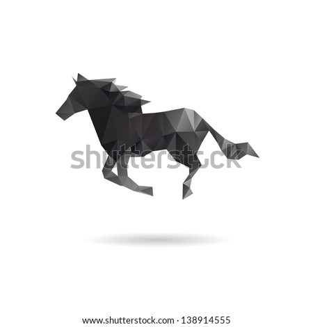 Horse isolated on a white backgrounds