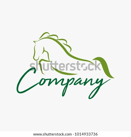 Horse lo design illustration, Horse silhouette vector, Horse vector inspiration