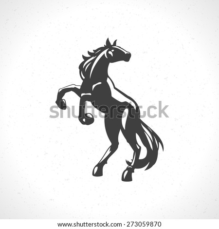 horse logo emblem template