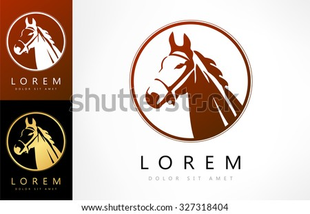 horse logo vector illustration