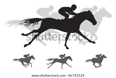Horse race Silhouettes,