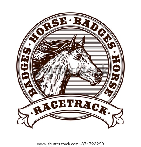 horse racetrack badges graver
