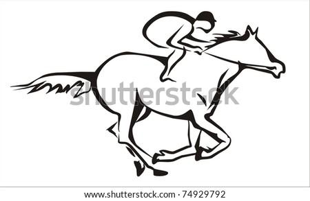 Horse Jockey Logo Horse Racing And Jockey Symbol