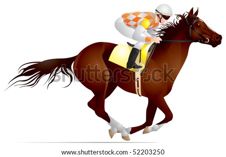 Horse Jockey Logo Horse Racing Derby Jockey of