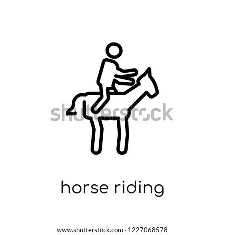 horse riding icon trendy