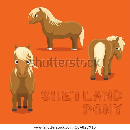 horse shetland pony cartoon...
