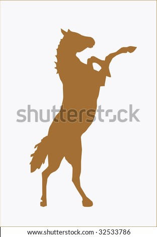 horse silhouette brown