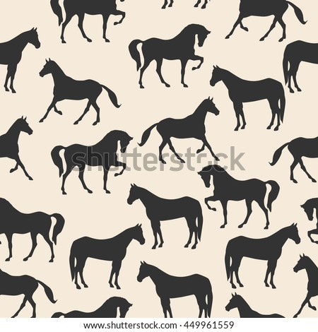 horse silhouette seamless
