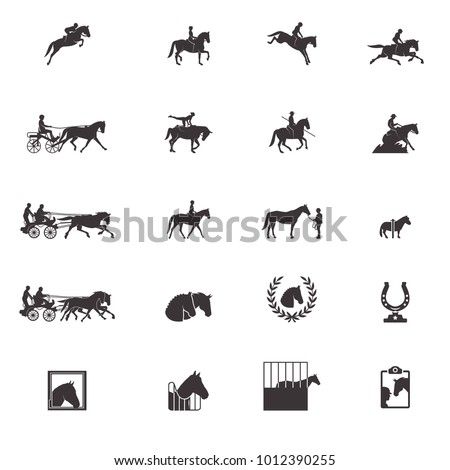 Horse sports icons