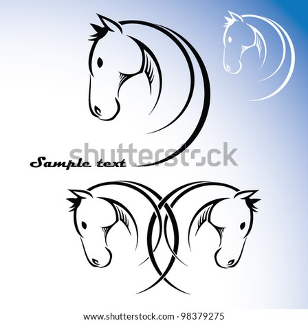 Horse symbol - vector illustration