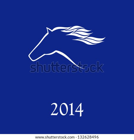 Horse symbol vector New Year Symbol