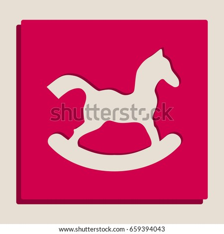 horse toy sign vector