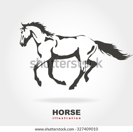 Horse. Vector illustration.