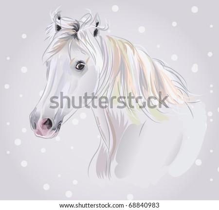 horse vector illustration - stock vector