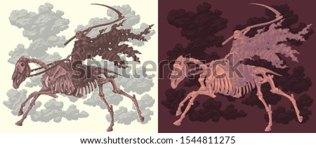 horseman death riding a horse