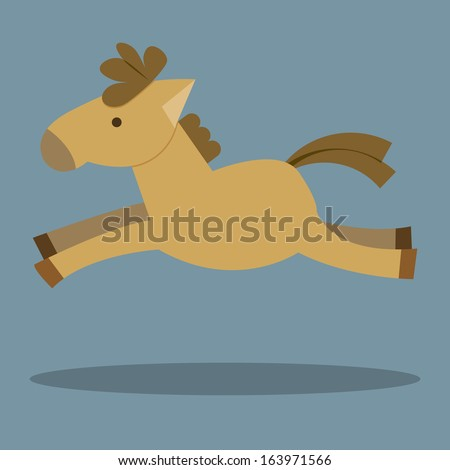 Horses Cartoon. Illustration of a funny horse.