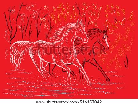 horses run on water