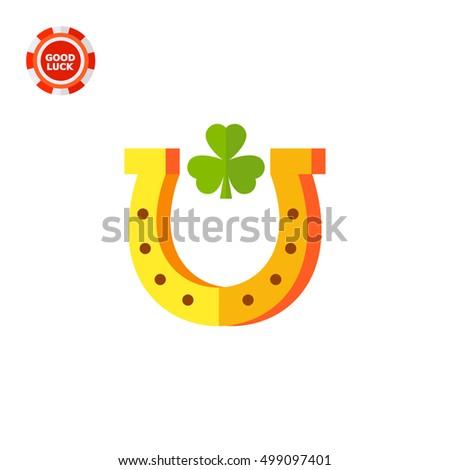 horseshoe with trefoil inside