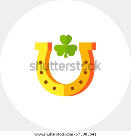 Horseshoe With Trefoil Inside Icon