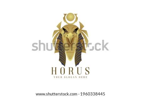 Horus Egyptian god pharaoh logo Stock photo ©
