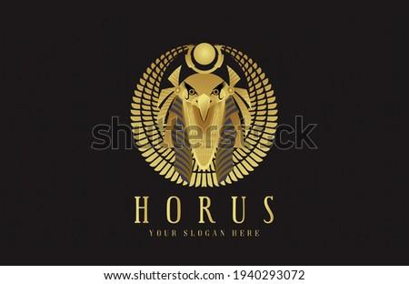 Horus Pharaoh God logo icon Stock photo ©