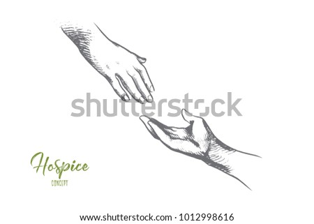 hospice concept hand drawn one