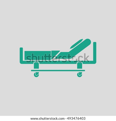 hospital bed icon. gray...