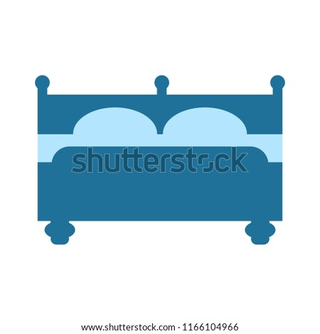 hospital bed icon. vector hotel icon - sleepping bed. travel symbol isolated