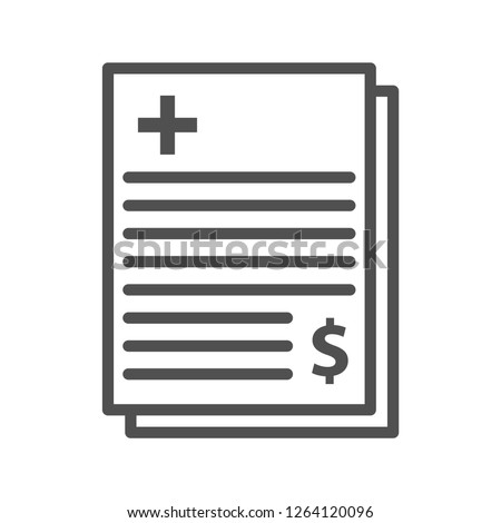 Hospital Bill Vector Icon
