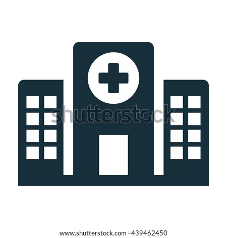 hospital building front icon