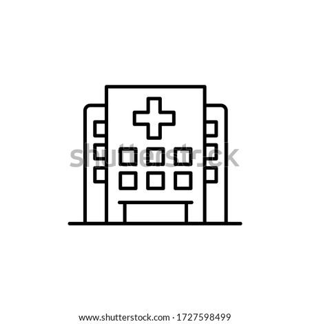 Hospital building icon vector logo