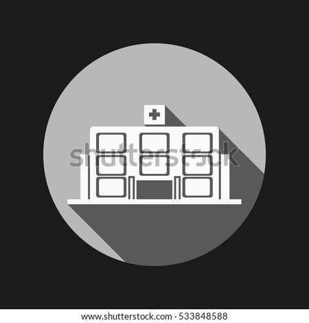 Hospital building. medical facility. vector medical science icon