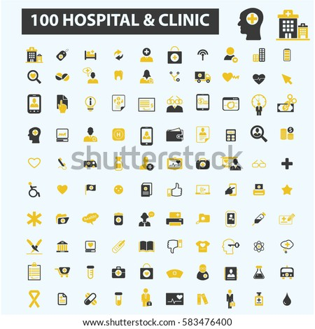 hospital clinic icons