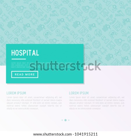 Hospital concept with thin line icons for doctor's notation: neurologist, gastroenterologist, manual therapy, ophtalmologist, cardiology, allergist, dermatologist. Vector illustration for clinic.