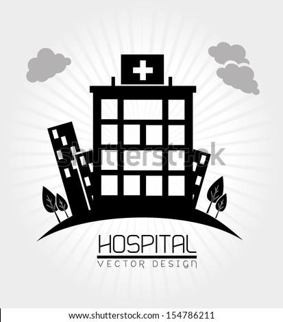 hospital design  over white background vector illustration
