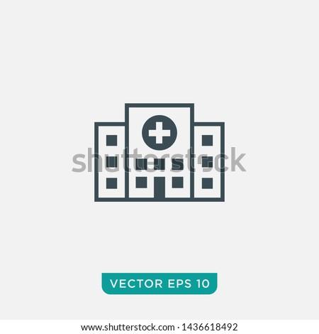 Hospital Icon Design, Vector EPS10