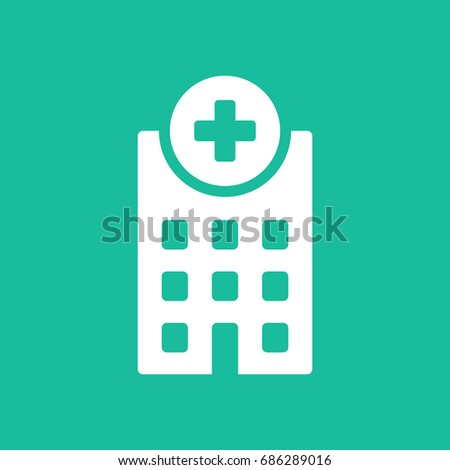 Hospital medical icon building isolated.