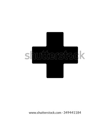 hospital plus sign button