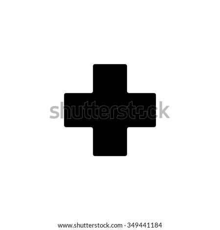 hospital plus sign button