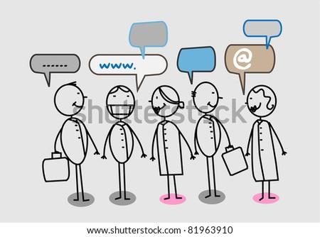 Hospital team Social network - stock vector