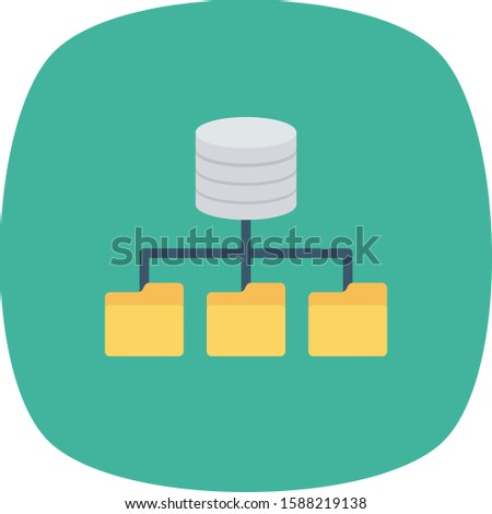 Hosting flat icons for connection & server