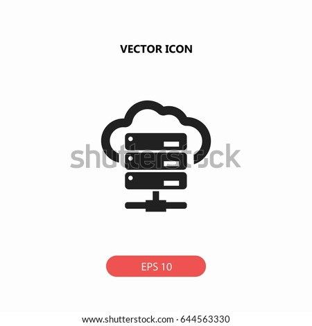 hosting vector icon