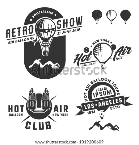 Hot air balloon, balloon, thermal balloon, aerostat, airship.Aerostat balloon vector.